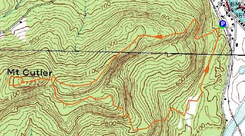 Mt cutler maine october 8 2010 hike trip report topographic map of mt cutler click to enlarge publicscrutiny Images