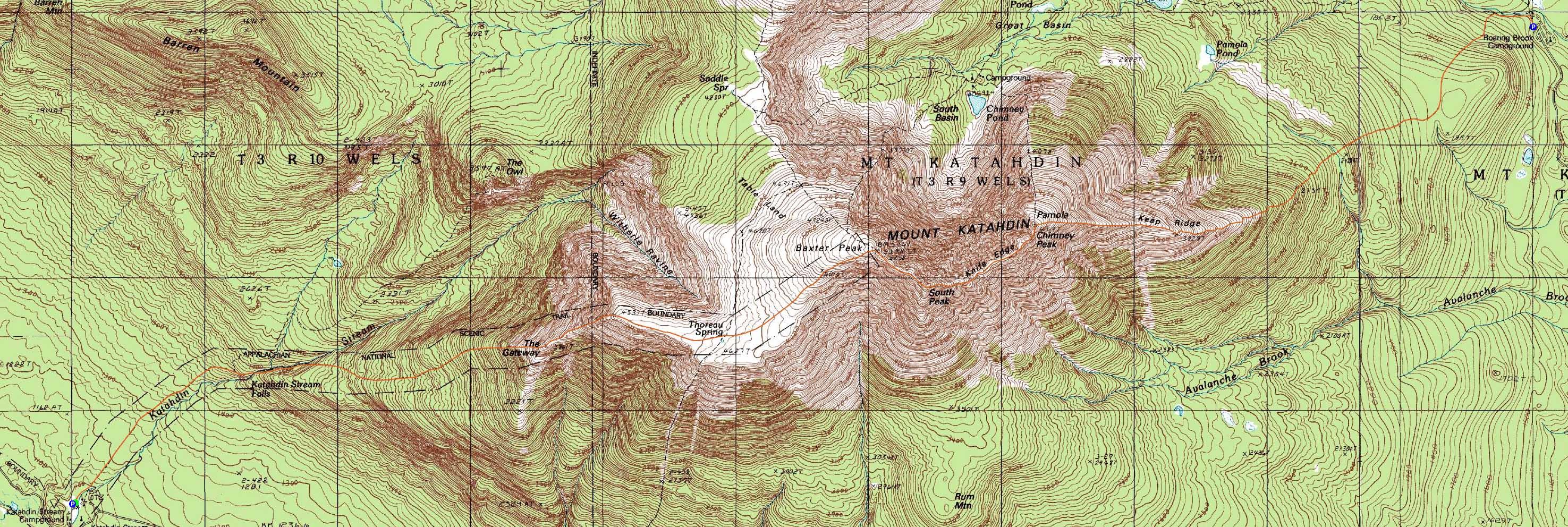 Mt. Katahdin (Baxter Peak), Mt. Katahdin (South Peak), Mt ...