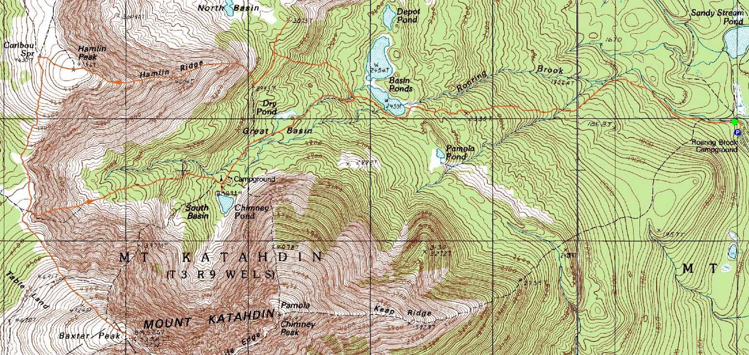 Mt. Katahdin (Hamlin Peak), ME, Mt. Katahdin (Baxter Peak), ME ...