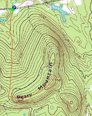 Topographic Map Of A Mountain.Notes Earth S Dimensions