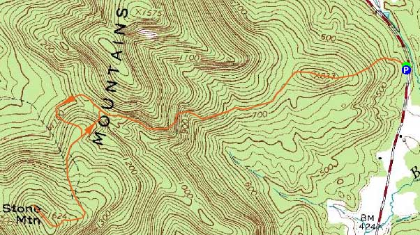 Stone Mountain Elevation Map : Stone mountain maine june hike trip report