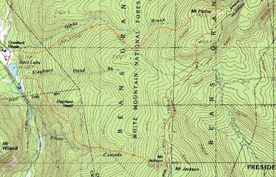 Mt Jackson Mt Pierce  New Hampshire  Hike Trip Report