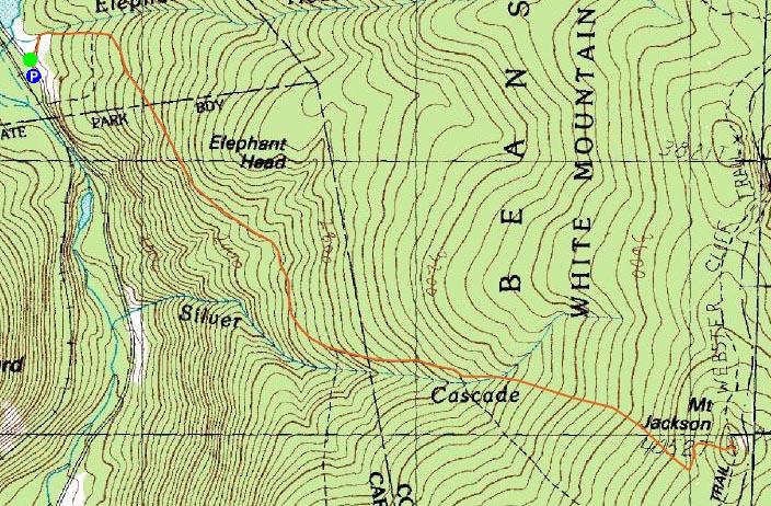 Mt Jackson  New Hampshire  January 10 2008 Hike Trip