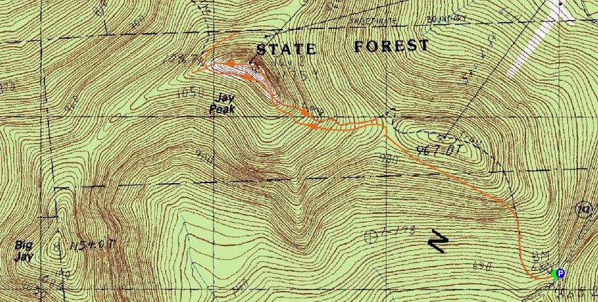 Jay Peak  Vermont  November 3 2007 Hike Trip Report